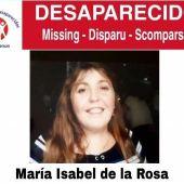 Recorte del cartel difundido para localizar a Maria Isabel de la Rosa Cozar