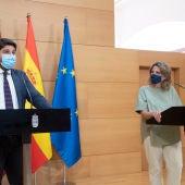 López Miras y Ribera ponen fin a los desencuentros competenciales sobre el Mar Menor