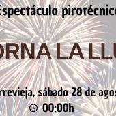 """Torrevieja acoge este sábado un castillo de fuegos artificiales dentro del programa """"Torna la Llum"""" de la diputación"""