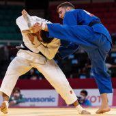 Combate de Judo entre Uchkun Kuranbaev y Sergio Ibáñez