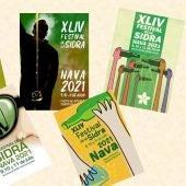 Últimos días para visitar la muestra de carteles presentados al concurso del Festival de la Sidra en Nava