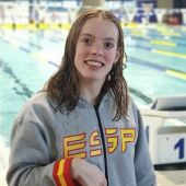 La nadadora Marta Fernández