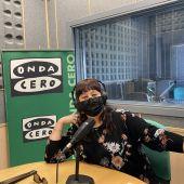 """Pilar Martín, directora de """"Cuenca a Escena"""" y Palanka Teatro en los estudios de Onda Cero Cuenca este lunes"""