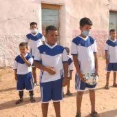 Niños saharauis en los campos de refugiados de Tinduf