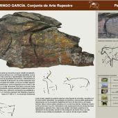 Panel didáctico en el cerro de San Isidro (Domingo García)