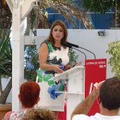 La vicesecretaria general del PSOE, Adriana Lastra durante un acto.