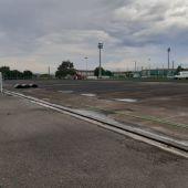 Campos de fútbol de la Torre de Coruña en obras