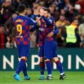 Luis Suárez, Griezmann y Messi durante su etapa en el FC Barcelona