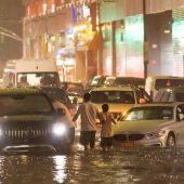 Impresionantes imágenes de las lluvias torrenciales en las calles de Nueva York