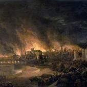 En1666 en Londres se declara el Gran Incendio, que destruye la ciudad medieval dentro de la vieja muralla