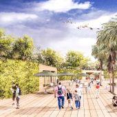 El futuro parque de la magdalena en una foto de archivo