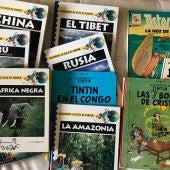 Libros de Tintin y Asterix
