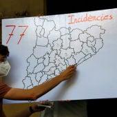 Mapa amb les incidències LGTBIfòbiques a Catalunya a mitjans d'agost