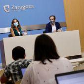 Rueda de prensa tras el Gobierno de Zaragoza