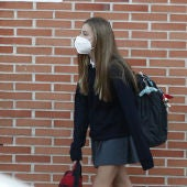 La infanta Sofía comienza sus clases de tercero de la ESO