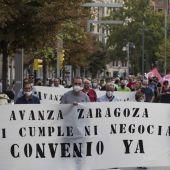 Los trabajadores de Bus y Tranvía realizaron una manifestación conjunta el pasado martes