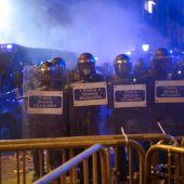 Los Mossos blindan la Jefatura por los altercados tras la manifestación de la Diada