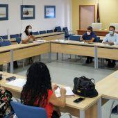 Reunión en la sede de la Mancomunidad de Municipios de la Bahía de Cádiz