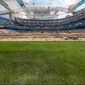 Fotografía tomada el 09/09/2021 del interior del estadio Santiago Bernabéu