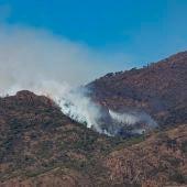 Imagen del incendio de Sierra Bermeja