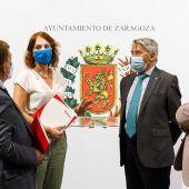 Carmen Herrarte ha presentado el convenio acompañada de responsables de CEPYME