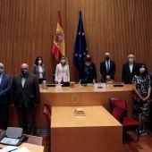 La presidenta del Congreso, Maritxell Batet y la presidenta de la Fundación Maragall, Cristina Maragall