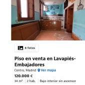 Piso en venta en Lavapiés
