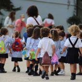 Niños en un colegio de Cáceres