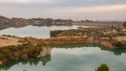 Al Pantano de Crevillent llega el agua que llega procedente del trasvase Tajo-Segura.