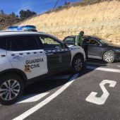 Control de Guardia Civil en una carretera de la provincia