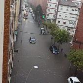 Inundaciones en la calle Brasil (Gijón)