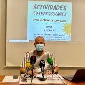 Presentación de actividades extraescolares por Mariano Cuartero