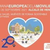 Cartel Semana Europea de la Movilidad de Alcalá de Henares