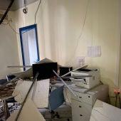 Se cae el techo del centro sanitario 9 d'octubre de Castelló