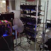 Dispositivos para la creación de criptomonedas encontrada en Crevillent.
