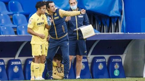 Emery junto a Take kubo en Villarreal