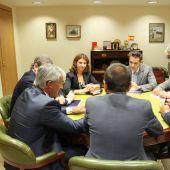 Imagen del encuentro celebrado hoy en Teruel