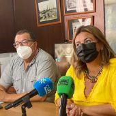 La alcaldesa Elena Amaya y Pedro Lloret