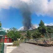 Imagen de la erupción del volcán de La Palma