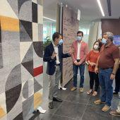 Nueve empresas participan este año en la feria del sector de la alfombra de Crevillent que tiene lugar en el Centre Jove.