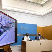 Momento de la presentación del nuevo proyecto de Pontoneros