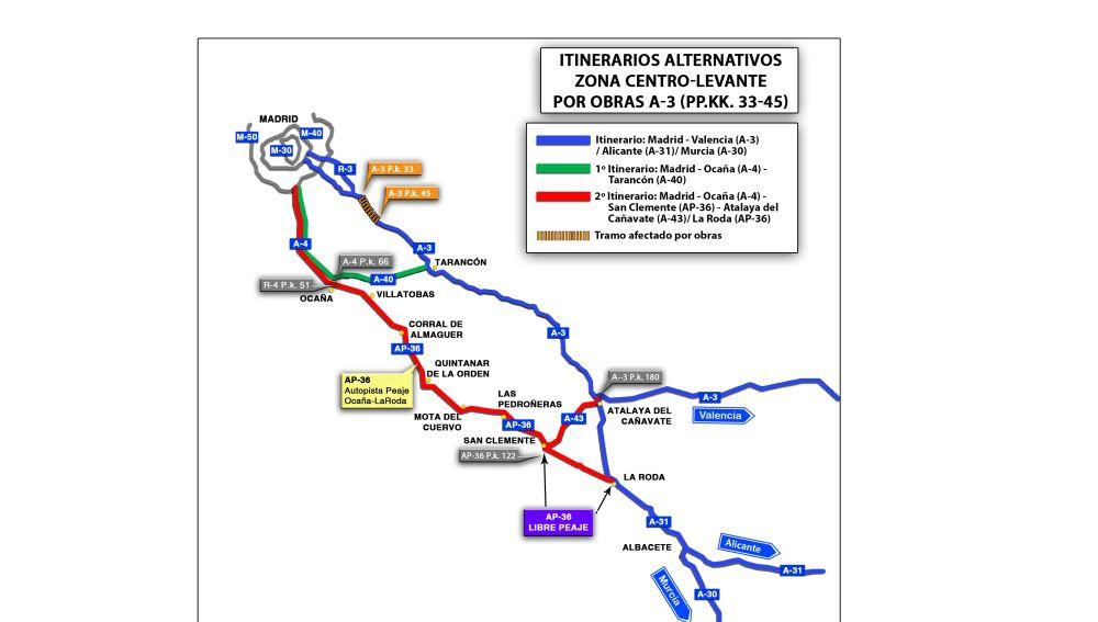 Itinerario alternativo A-3