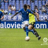Obeng, en el partido frente al Girona.