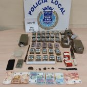 Elementos incautados por el Grupo Lima de la Policía de San Fernando