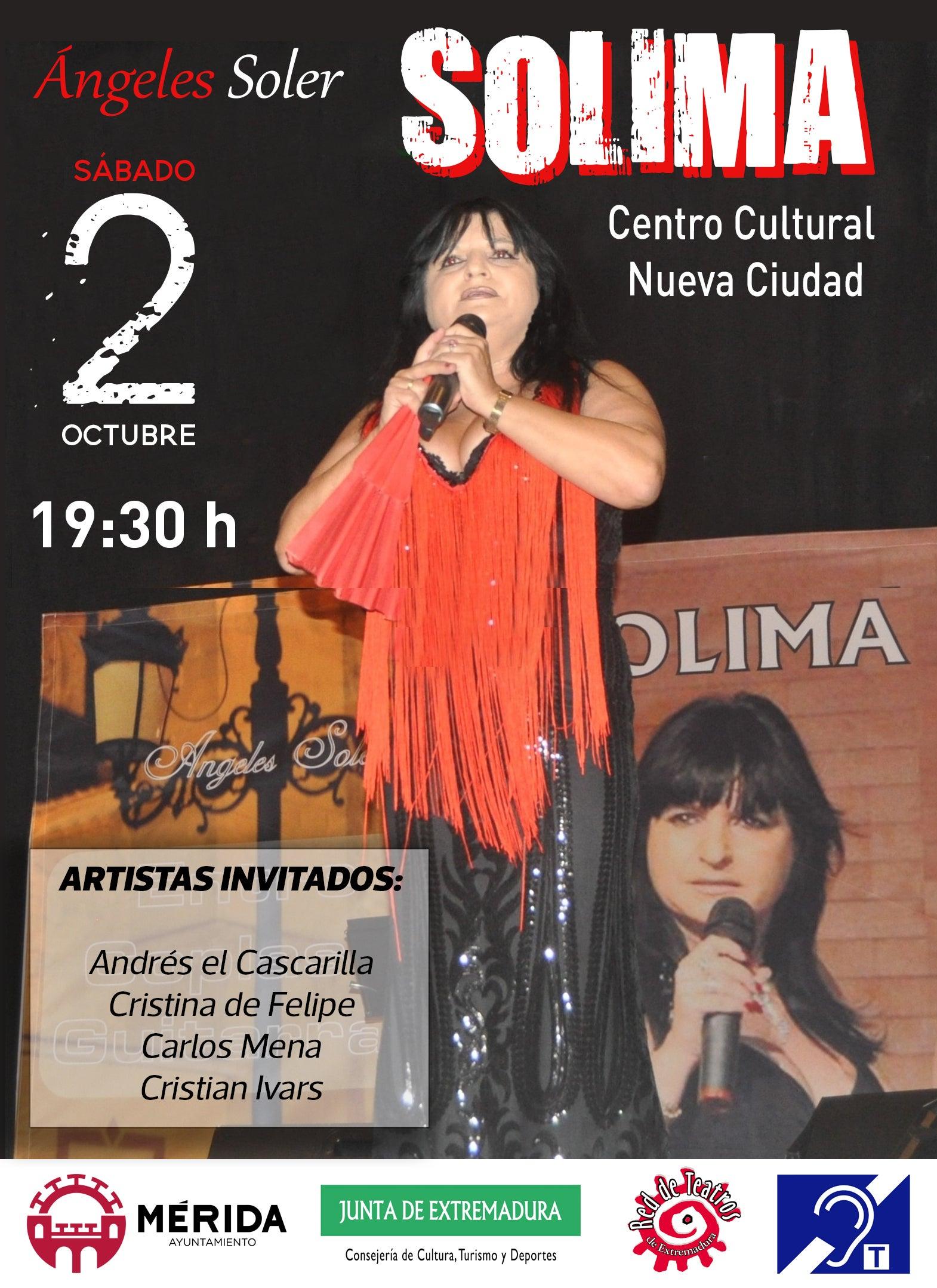 """Solima actuará con motivo del Día del Mayor con su espectáculo """"Entre Copas y Guitarra"""""""