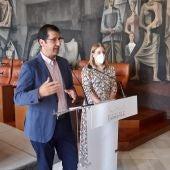 José Manuel Caballero durante la rueda de prensa