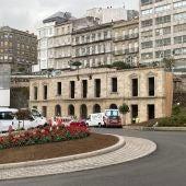 Fachada antigua estación de Vigo.