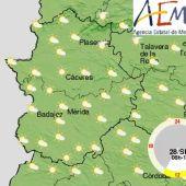 Extremadura amanece con bancos de niebla dispersos