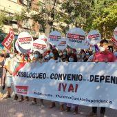 Protesta delante de la Plaza Asdrubal