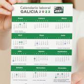 Calendario laboral de Galicia para 2022
